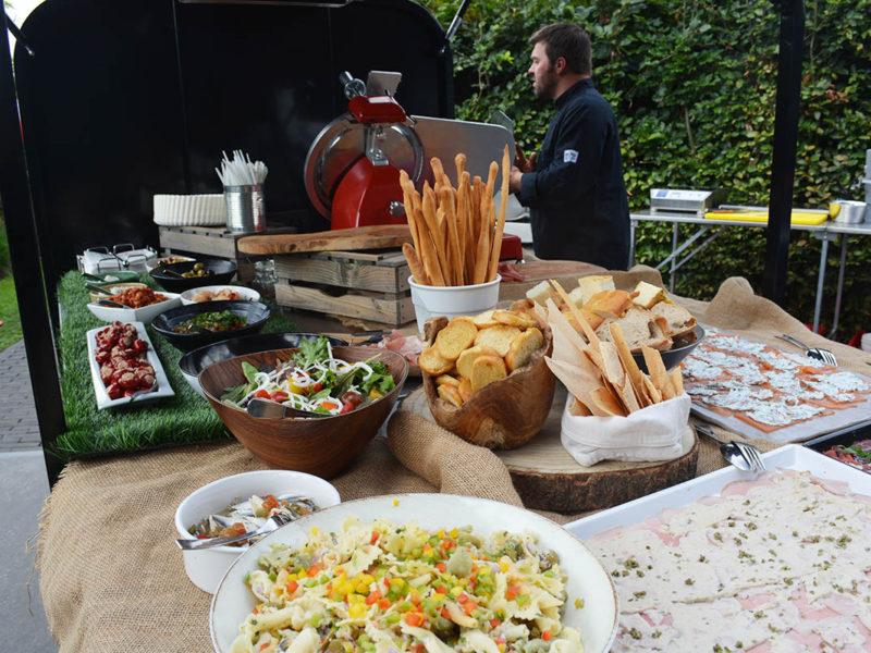 Antipastibuffet foodtruck catering Gent Oost-Vlaanderen bedrijfsfeest