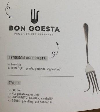 Logo brochure Bon Goesta Esperanto