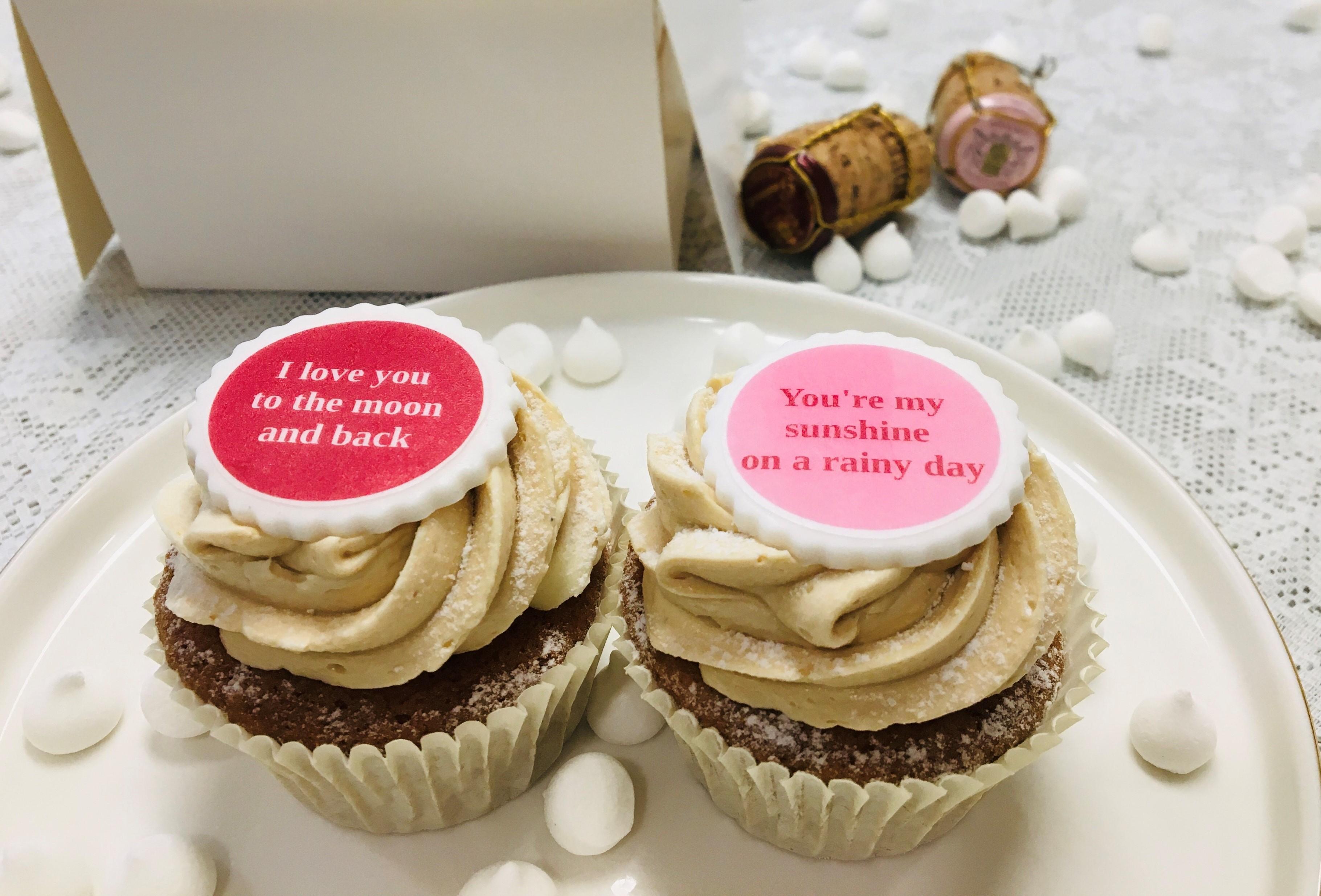 Valentijns cupcake ontbijtbox